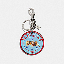 COACH F32657 Snoopy Dog Bag Charm MULTI/SILVER