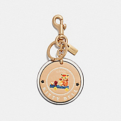 COACH F32658 Kitty Bell Bag Charm MULTI/GOLD