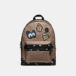 DISNEY X COACH ACADEMY BACKPACK IN SIGNATURE PATCHWORK - F32665 - KHAKI/MATTE BLACK