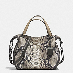 COACH F32682 Madison Smythe Satchel In Diamond Python Leather  ANTIQUE NICKEL/GREY
