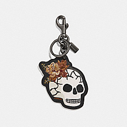 COACH F32697 Skull Bouquet Bag Charm MULTI/BLACK
