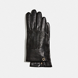 CLASSIC LEATHER GLOVES - COACH F32700 - BLACK