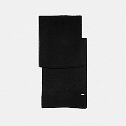 EMBOSSED SIGNATURE KNIT SCARF - F32711 - BLACK