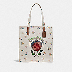 DISNEY X COACH POISON APPLE TOTE - COACH F32725 - CHALK/BLACK COPPER
