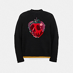 COACH F32752 Disney X Coach Poison Apple Intarsia Sweater BLACK