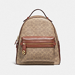 COACH F32754 Campus Backpack In Signature Canvas B4/TAN RUST