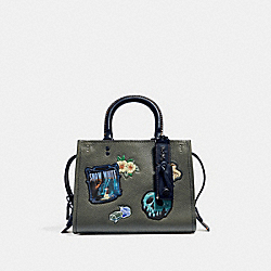 COACH F32780 Disney X Coach Rogue 25 With Patches ARMY GREEN/BLACK COPPER