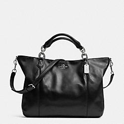 COACH F32785 Colette Leather Fashion Satchel SILVER/BLACK