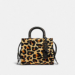 COACH F32872 - ROGUE 25 WITH EMBELLISHED LEOPARD PRINT LEOPARD/BLACK COPPER