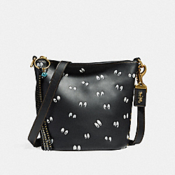 DISNEY X COACH DUFFLE 20 WITH SPOOKY EYES PRINT - F32925 - BLACK/BRASS