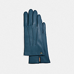 COACH F32956 - SCULPTED SIGNATURE LEATHER GLOVES DENIM