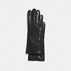 COACH F32957 - SCULPTED SIGNATURE TECH GLOVES BLACK