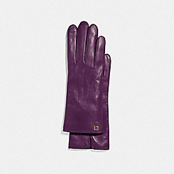COACH F32957 - SCULPTED SIGNATURE TECH GLOVES PLUM
