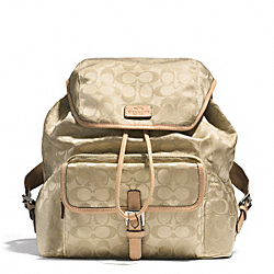 COACH F32970 Signature Nylon Backpack SVD81