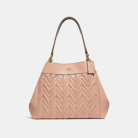 COACH F32978 LEXY SHOULDER BAG WITH QUILTING BEECHWOOD/LIGHT-GOLD