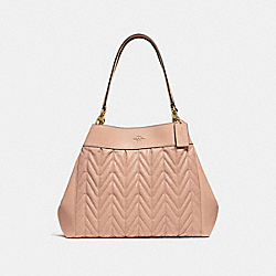 LEXY SHOULDER BAG WITH QUILTING - F32978 - BEECHWOOD/LIGHT GOLD