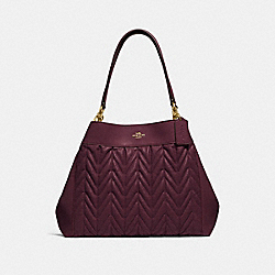 LEXY SHOULDER BAG WITH QUILTING - F32978 - OXBLOOD 1/LIGHT GOLD