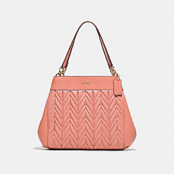 LEXY SHOULDER BAG WITH QUILTING - F32978 - MELON/LIGHT GOLD