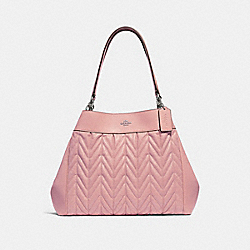 LEXY SHOULDER BAG WITH QUILTING - F32978 - PETAL/SILVER