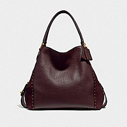 COACH F32988 - EDIE SHOULDER BAG 42 WITH RIVETS B4/OXBLOOD
