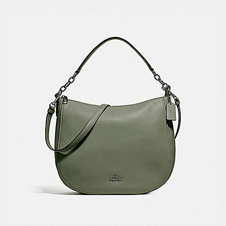 COACH f33000 CASSIDY HOBO SURPLUS/DARK GUNMETAL
