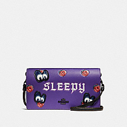 COACH F33045 Disney X Coach Sleepy Hayden Foldover Crossbody Clutch PURPLE