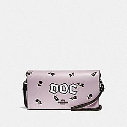 DISNEY X COACH DOC HAYDEN FOLDOVER CROSSBODY CLUTCH - F33050 - JASMINE
