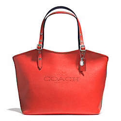 COACH F33081 Bailey Tote In Saffiano Leather  SILVER/CORAL