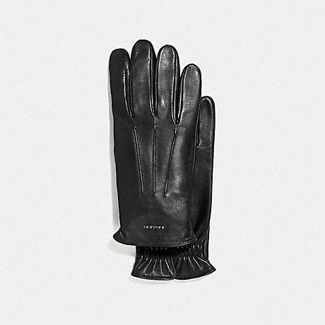 COACH F33083 TECH NAPA GLOVES BLACK