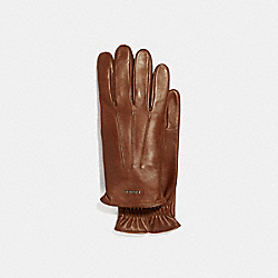 COACH F33083 - TECH NAPA GLOVES DARK SADDLE