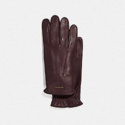 COACH F33083 - TECH NAPA GLOVES MAHOGANY