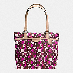 COACH F33295 Signature Stripe Multi Dream C Tote SVDDN