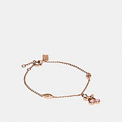 COACH F33365 Cherry Charm Bracelet ROSEGOLD/PINK