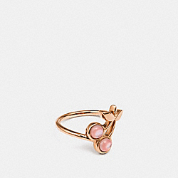 COACH CHERRY RING - PINK/ROSEGOLD - F33368