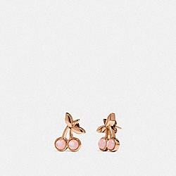COACH CHERRY STUD EARRINGS - PINK/ROSEGOLD - F33369