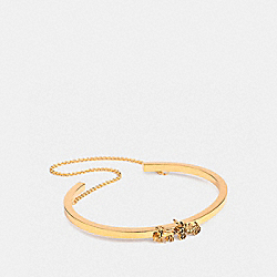 HORSE AND CARRIAGE DOUBLE CHAIN CUFF - F33376 - GOLD