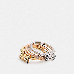 HORSE AND CARRIAGE RING SET - F33378 - MULTICOLOR