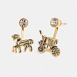 HORSE AND CARRIAGE EARRINGS - F33379 - GOLD