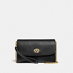 COACH F33390 Chain Crossbody BLACK/LIGHT GOLD