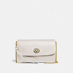 COACH F33390 - CHAIN CROSSBODY CHALK/GOLD