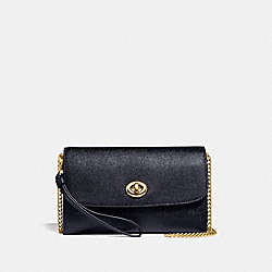CHAIN CROSSBODY - F33390 - MIDNIGHT/GOLD