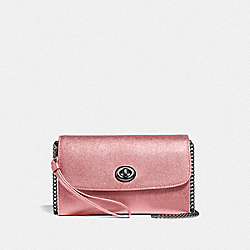 COACH F33390 - CHAIN CROSSBODY QB/METALLIC DARK BLUSH