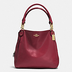 COLETTE LEATHER HOBO - f33393 - IM/CRIMSON