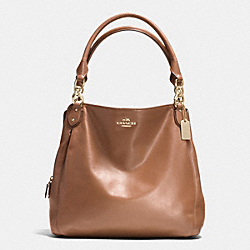 COLETTE LEATHER HOBO - f33393 - IM/SADDLE