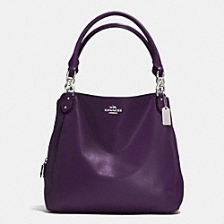 COACH F33393 Colette Leather Hobo SV/BLACK VIOLET
