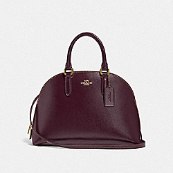 COACH F33404 Quinn Satchel LI/OXBLOOD