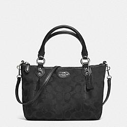 COACH F33416 Colette Signature Mini Fashion Satchel SILVER/BLACK