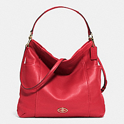 COACH F33436 Gallery Hobo In Leather  LIGHT GOLD/RED CURRANT