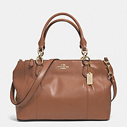 COACH F33447 - COLETTE LEATHER CARRYALL IM/SADDLE