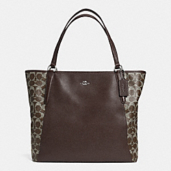 COACH BAILEY TOTE IN SAFFIANO LEATHER - SILVER/BROWN/BROWN - F33480